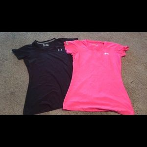 Two under armour tees